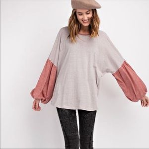 NEW! COLOR BLOCK TOPS SIZE SMALL AND MEDIUM